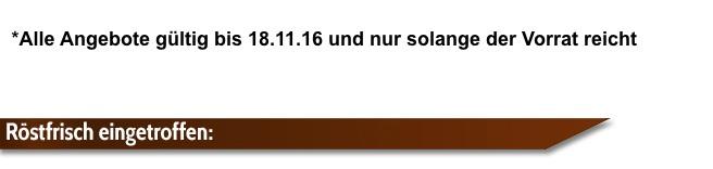 Angebot Espresso International bei 18.11.16